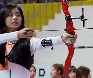 shooting off some arrows with elegance