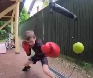 this kid is a ninja in the making