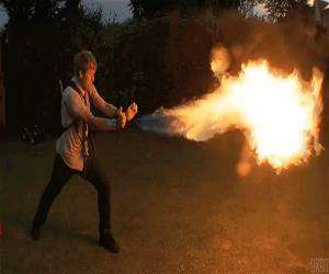amazing flame thrower