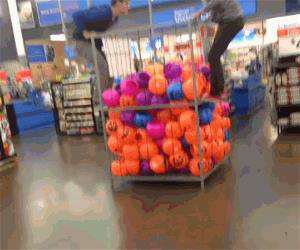 having fun at walmart
