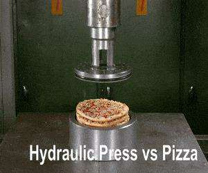 hydraulic press vs pizza