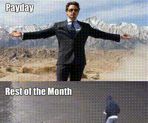 payday versus the rest of the month