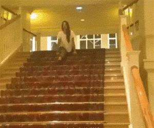 split down the stairs