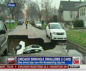 swallowing cars in chicago