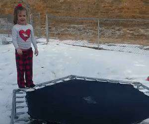 the icy trampoline