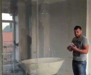 very cool shower door