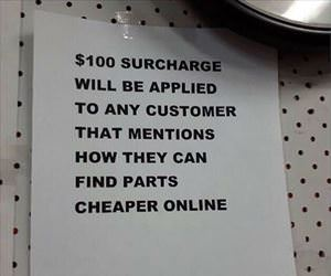 100 dollar surcharge