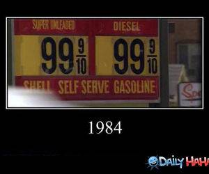Gas Back Then funny picture