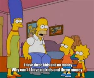 3 kids and no money funny picture