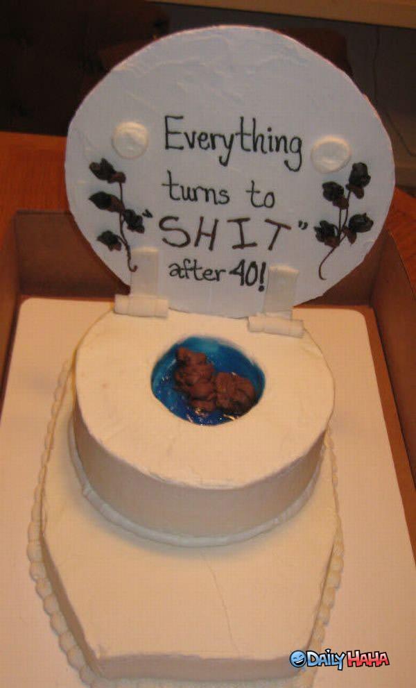 Turning 40 Cake