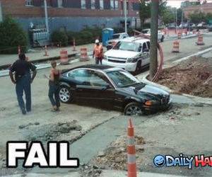 BMW Cement Fail funny picture