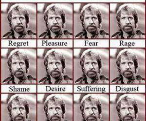 Emotions of Chuck Norris funny picture