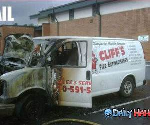 Fire Van FAIL
