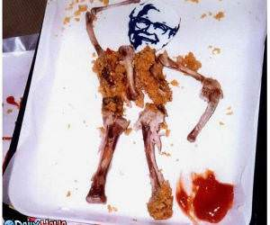 KFC Chicken Bones Man