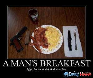 Manly Breakfast funny picture