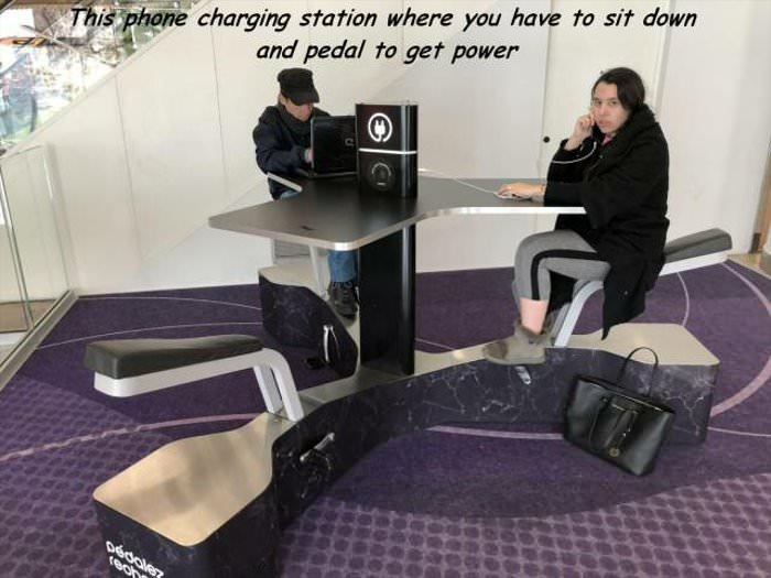 a cool phone charging station