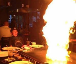a first timer at hibachi funny picture