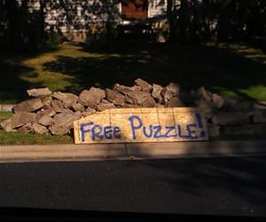 a free puzzle funny picture