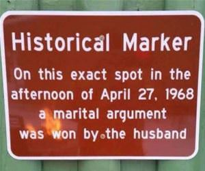 a historical marker funny picture