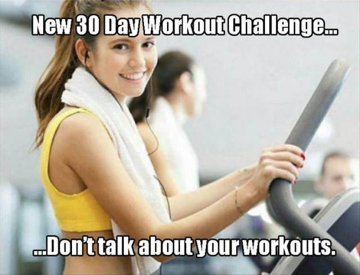 a new workout challenge funny picture