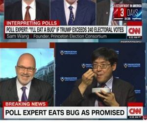 a bug on crooked cnn funny picture