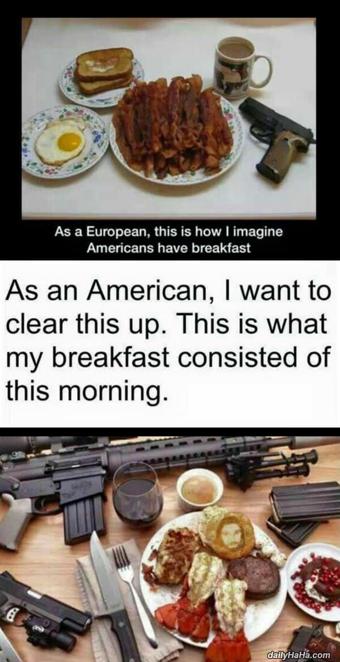 a real american breakfast funny picture