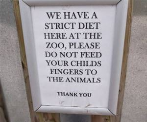 a strict diet at the zoo funny picture