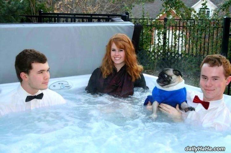 a weird hot tub funny picture