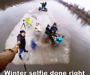 a winter selfie funny picture