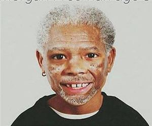 a young morgan freeman funny picture