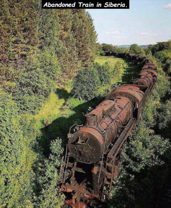 abandoned train in siberia