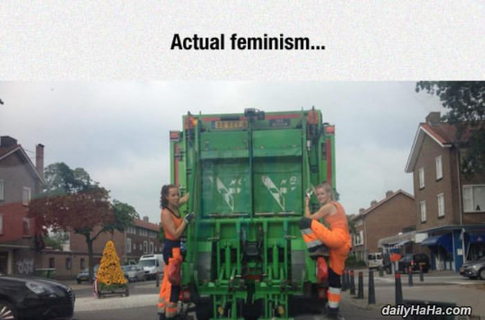 actual feminism funny picture