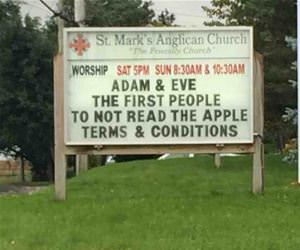 adam and eve funny picture
