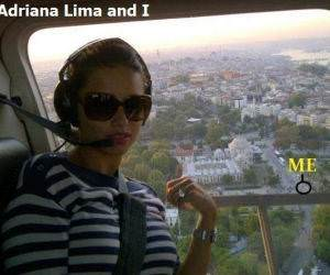 Adriana Lima and Me funny picture