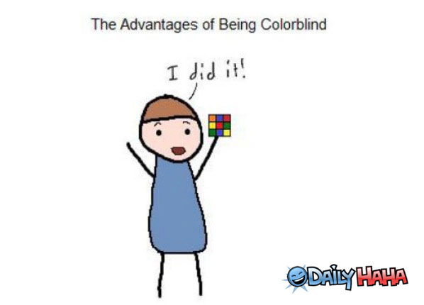 Advantages of the Colorblind funny picture