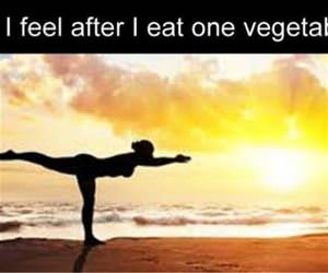 after i eat one vegetable funny picture