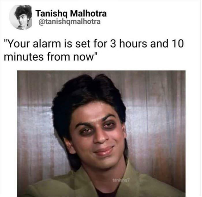 alarm is set