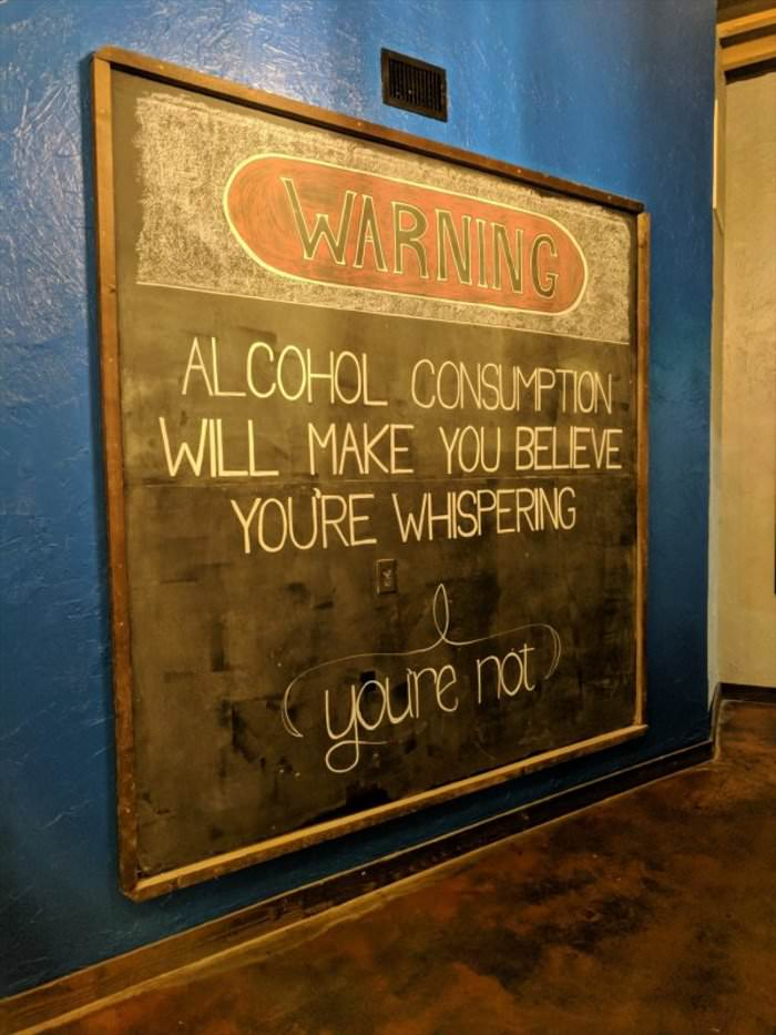 alcohol makes you think you are whispering