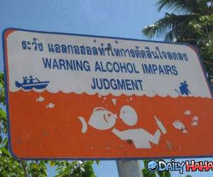 Alcohol Warning funny picture