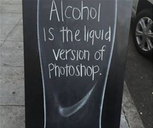 alcohol is liquid photoshop funny picture