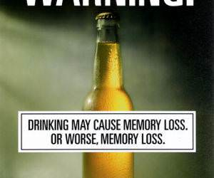 Alcohol warning, warning