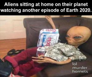 aliens watching