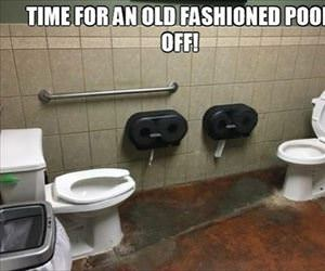 an old fashion poop off