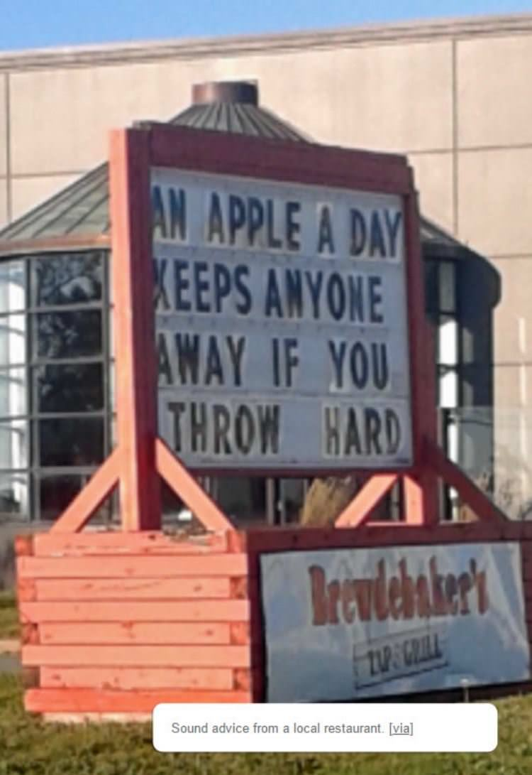 an apple a day funny picture