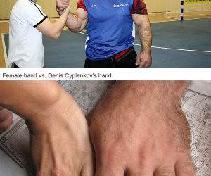 Giant Arm Wrestler funny picture