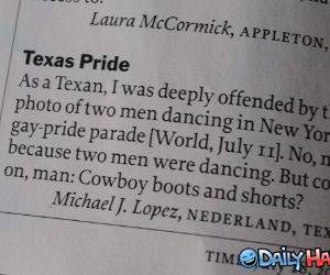 Texas Pride funny picture