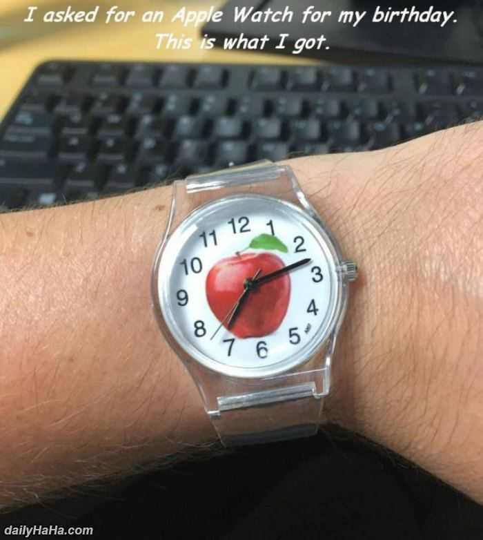 asked for an apple watch funny picture