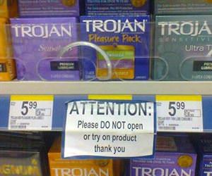 attention please do not try on product