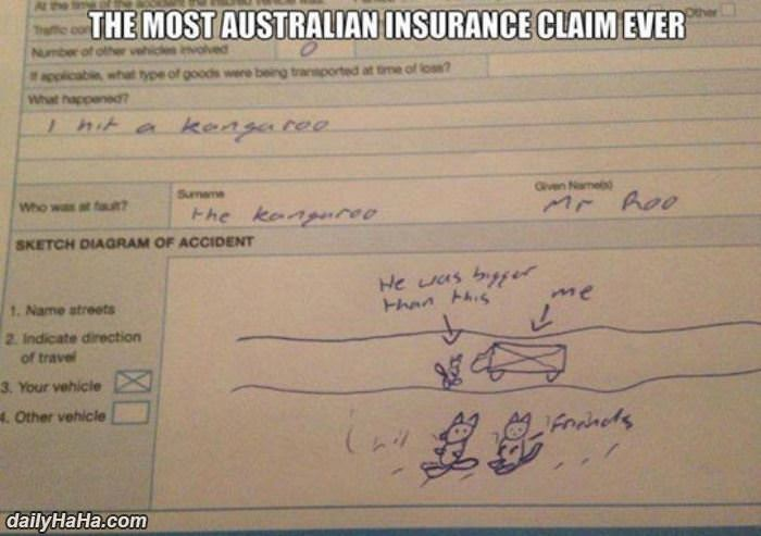 australian insurance claim funny picture