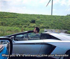 aventador when you are tall funny picture